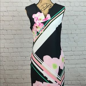 ECI Abstract Floral Sleeveless Dress Size 8